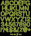 Green Flower garden Font