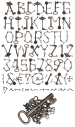Keys metal Font