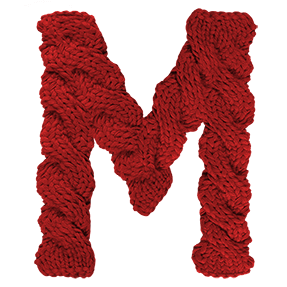 Twirled Knitted Font