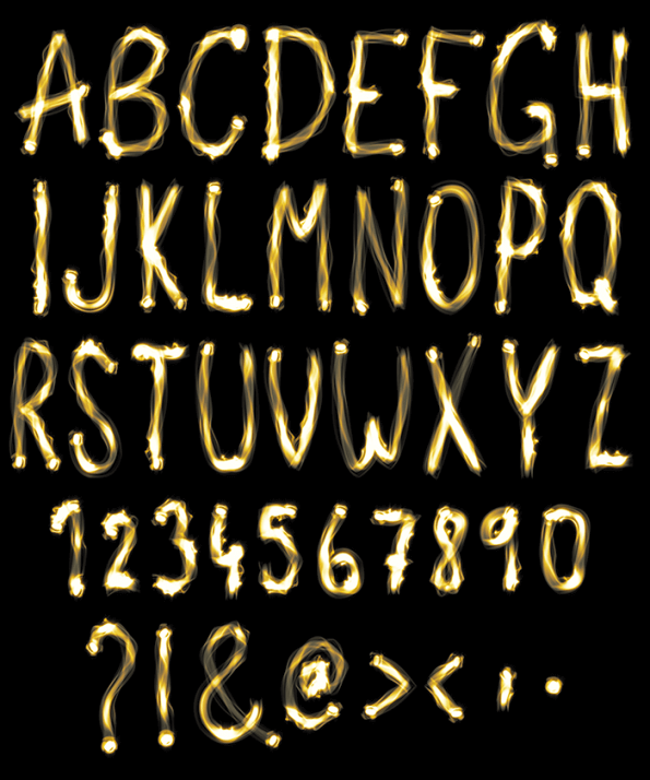 Lights bright Font