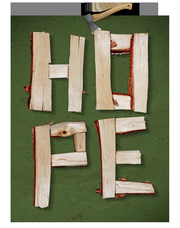 Log Font hope