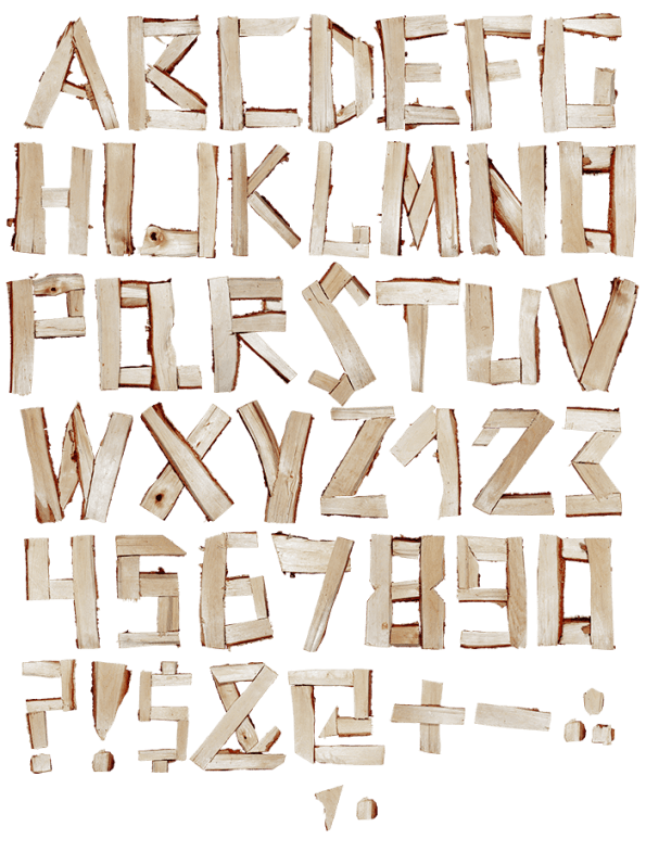 Log wood Font