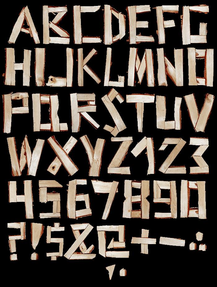 Log wood Font