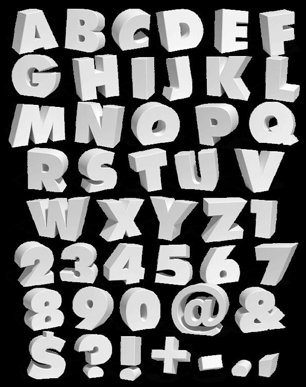 Melt White gray Font