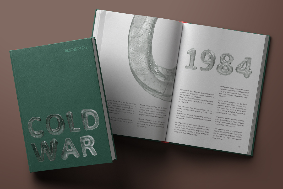 Melted Ice Font OpenType Typeface Book cover