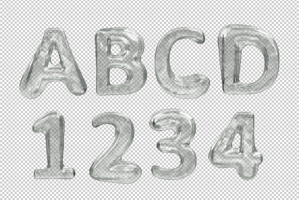 Melted Ice Font OpenType Typeface SVG photoshop preview test