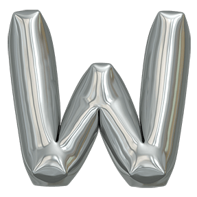 Metallic Balloon Font