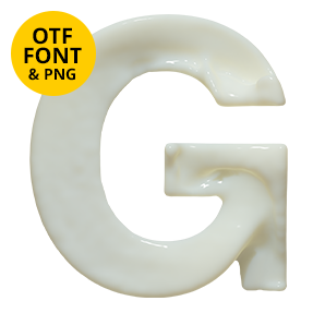 Milk Font. OpenType Typeface Made By Handmade Font. Letter G