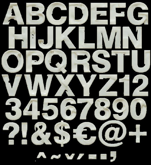 Milk Skimmed white Font