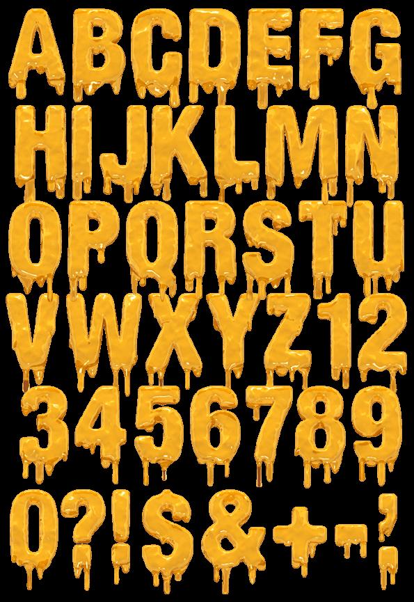 molten font