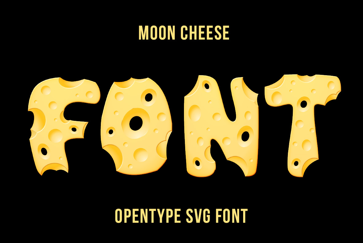 Cover of Moon Cheese Font OpenType Typeface Made By Handmade Font