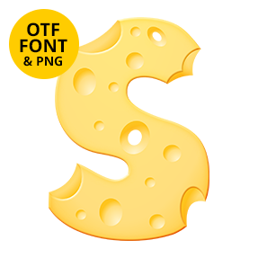 Moon Cheese Font Letter S