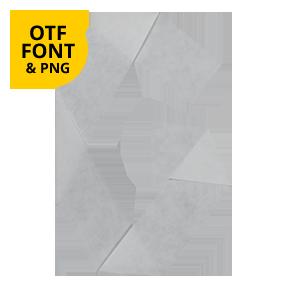 Origami Paper Font Letter G