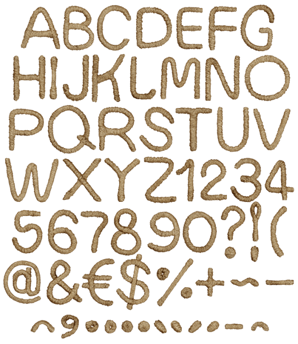 buy geometric rope brown font for real cowboys and gowgirls