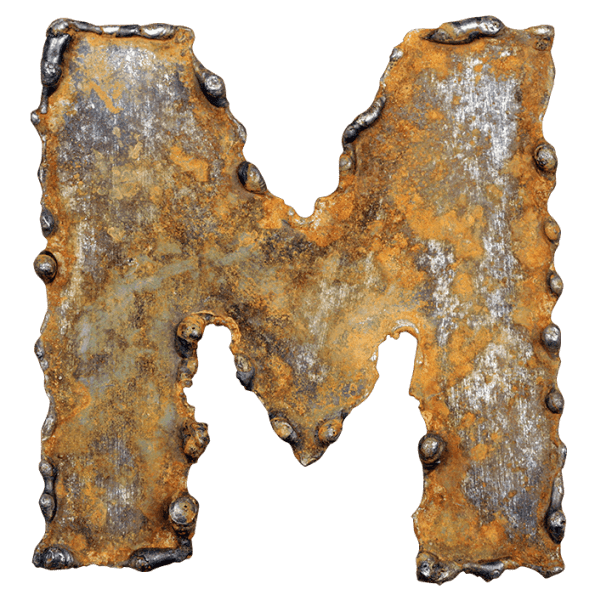 Rusty Metal Font