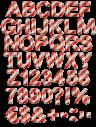 Santa stripes Font