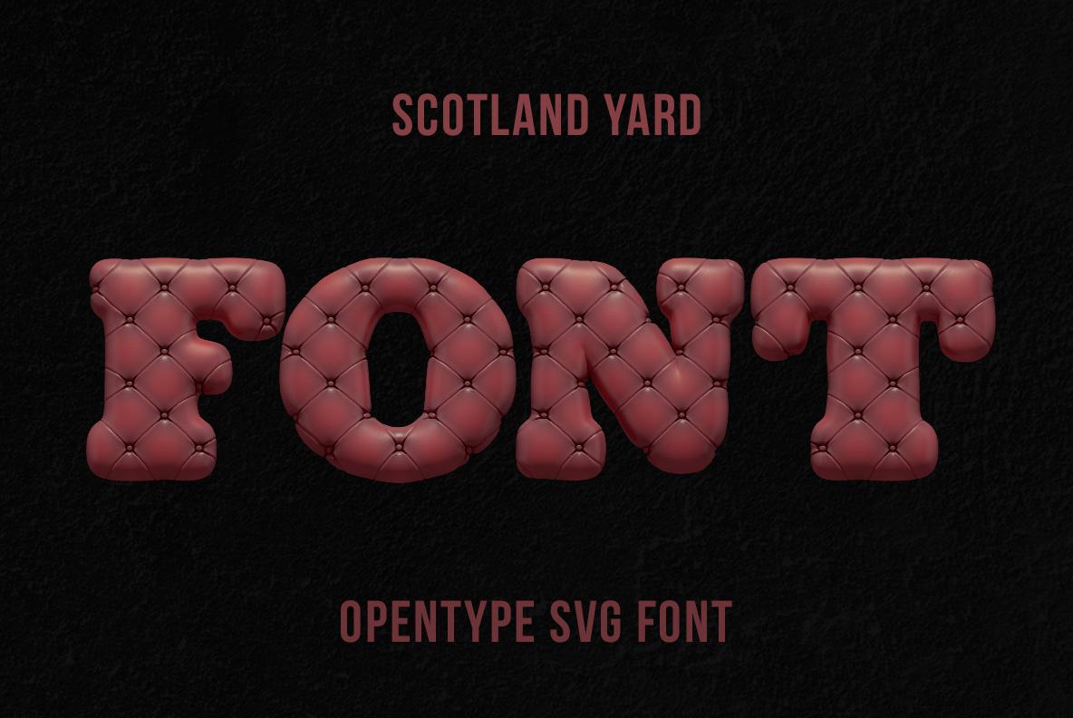 Scotland Yard Font OpenType Typeface SVG handmade font