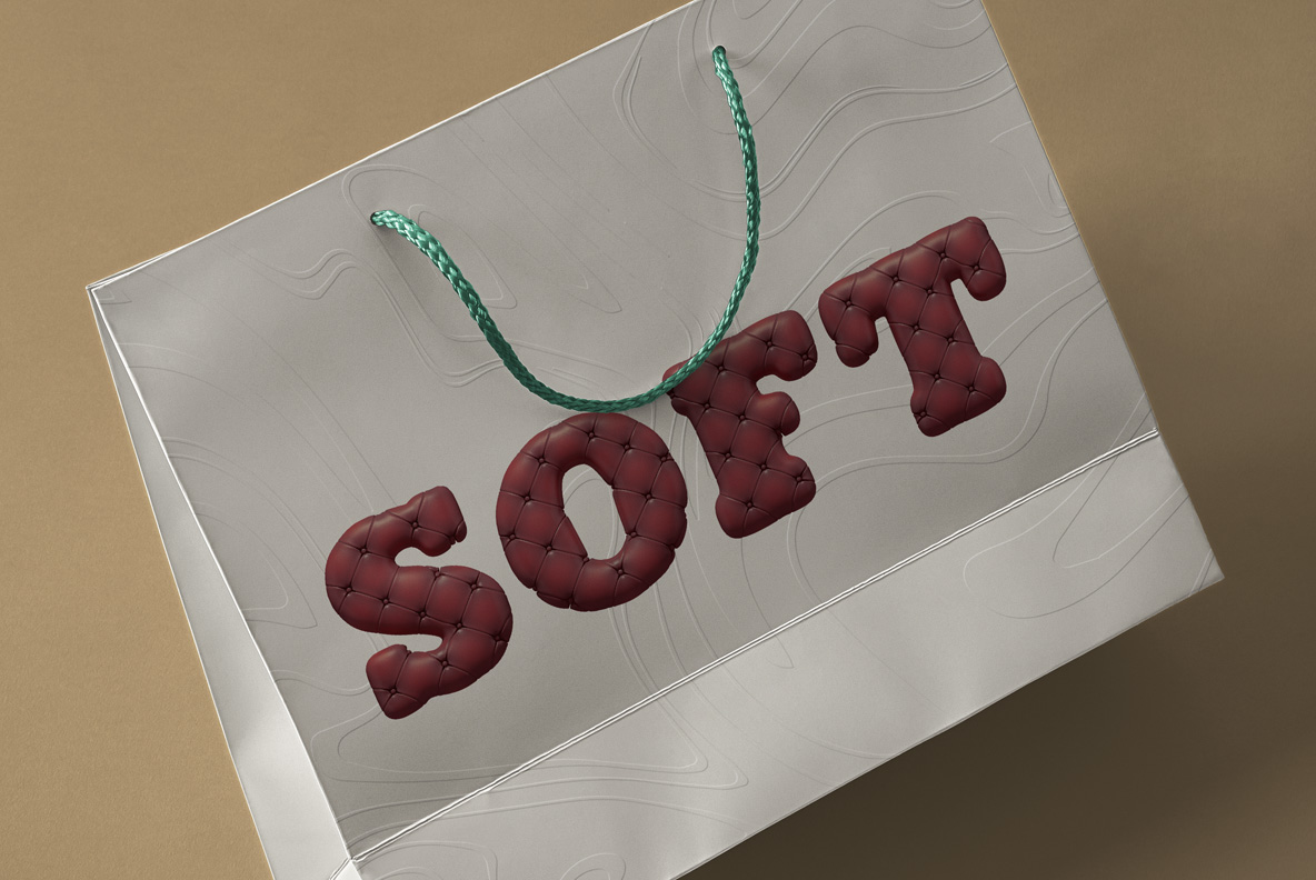 Scotland Yard Font OpenType Typeface SVG. Bag with sofa handmade font