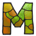 Stained Glass Font