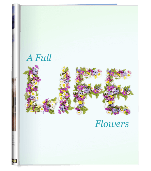 Wildflowers colorful Font