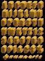 Woodcut nature Font