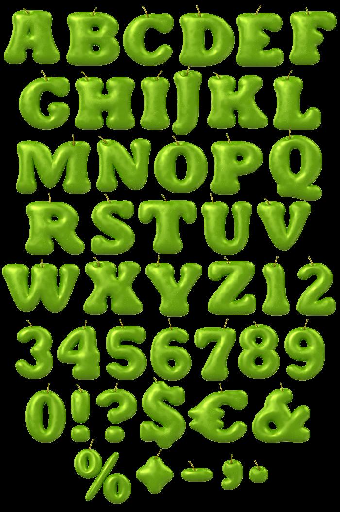 Apple Green food Font