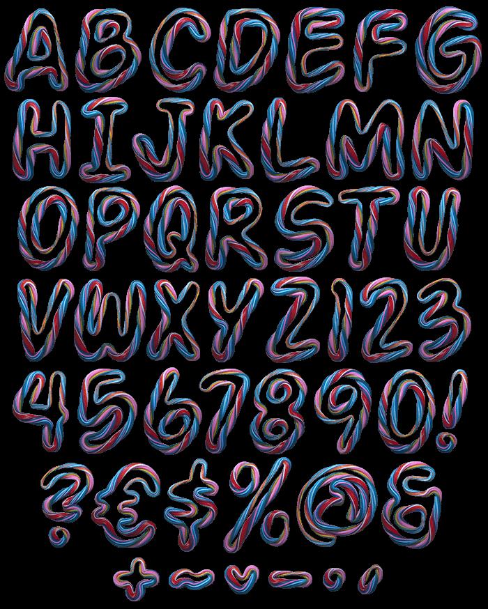Color Twist fancy font