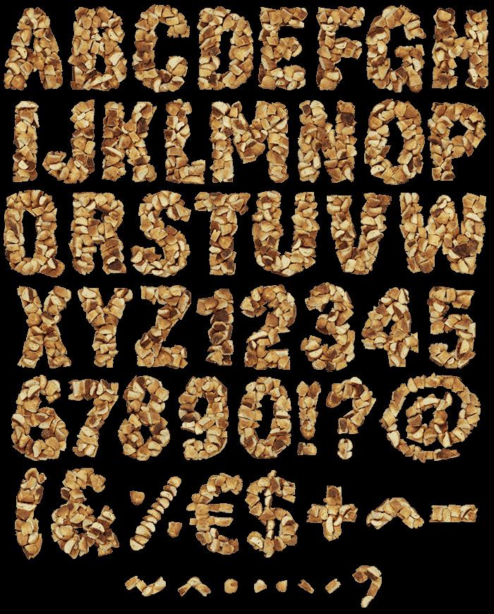 Cracker eating font