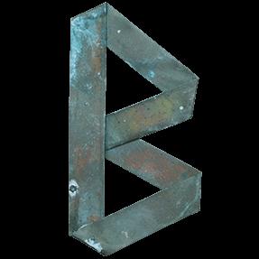 Green Origami Copper Font