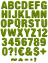 Knitted green warm font