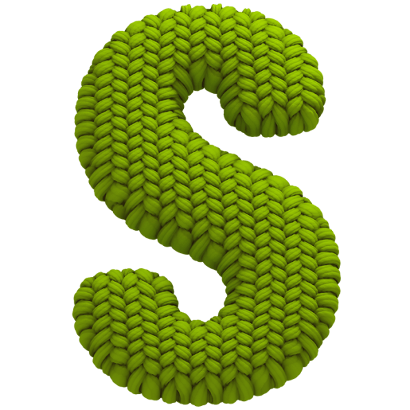 Knitted green font