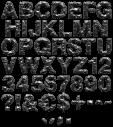 Paper Melt black font