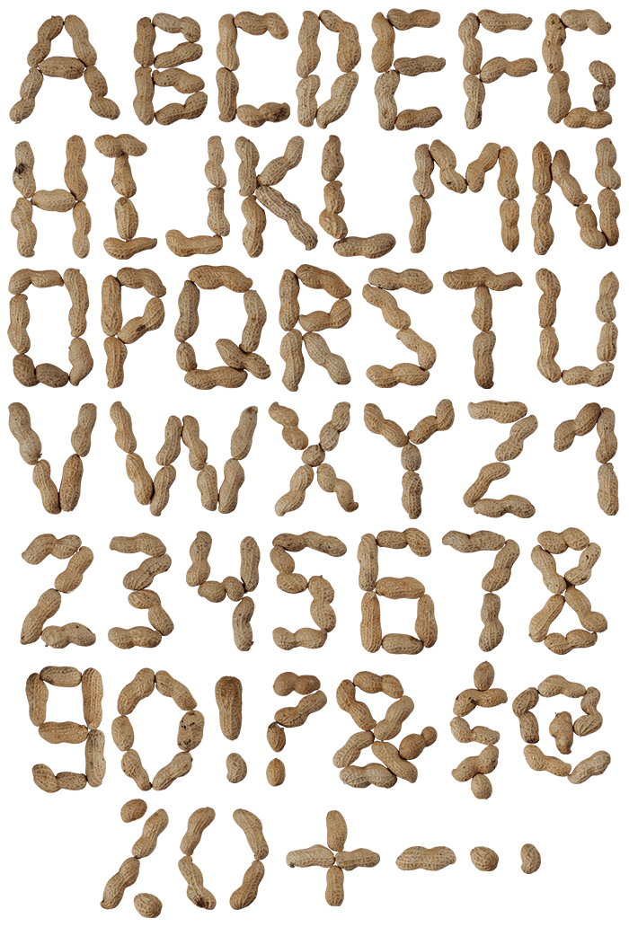 Peanuts food font