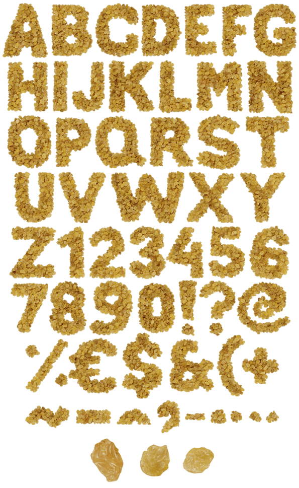 Raisins food font