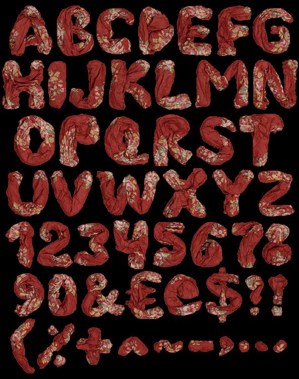Red Shawl handmade font