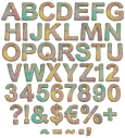 Vintage handmade font