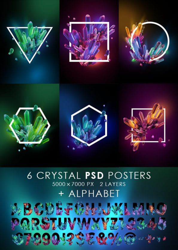 Crystal SET brilliant font