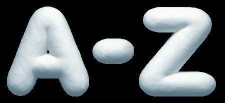 Snow Font letter Z
