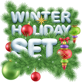 Winter holiday 3D font