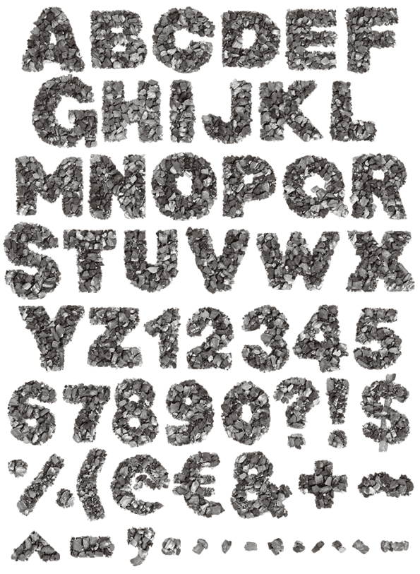 Carbons fancy font