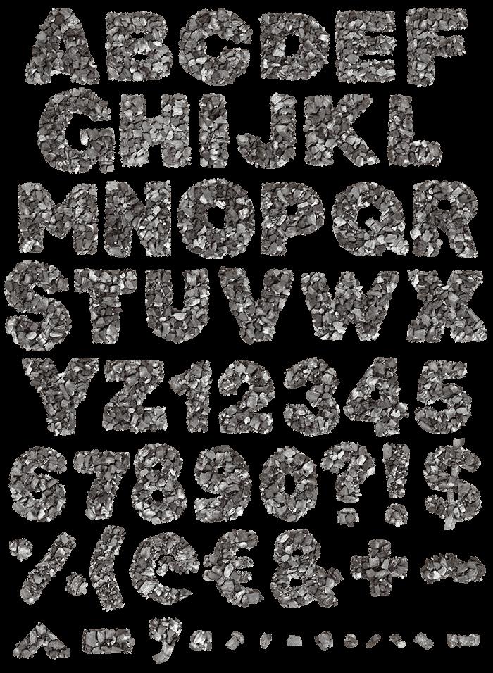 Carbons fancy font