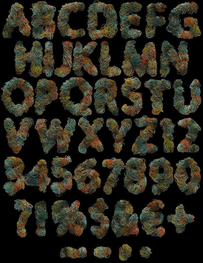 Color Wire fancy font