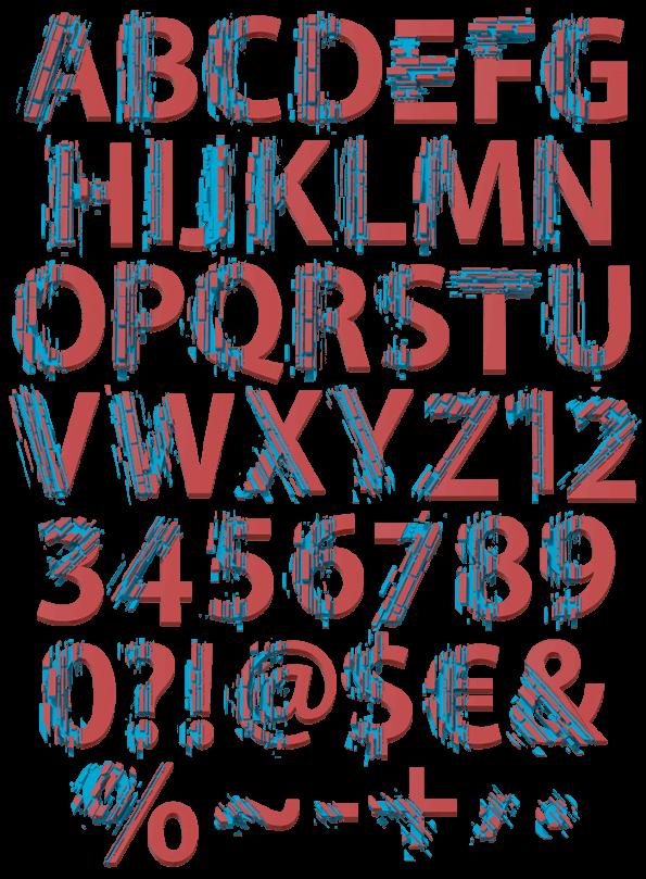 Color Slice mosaic font