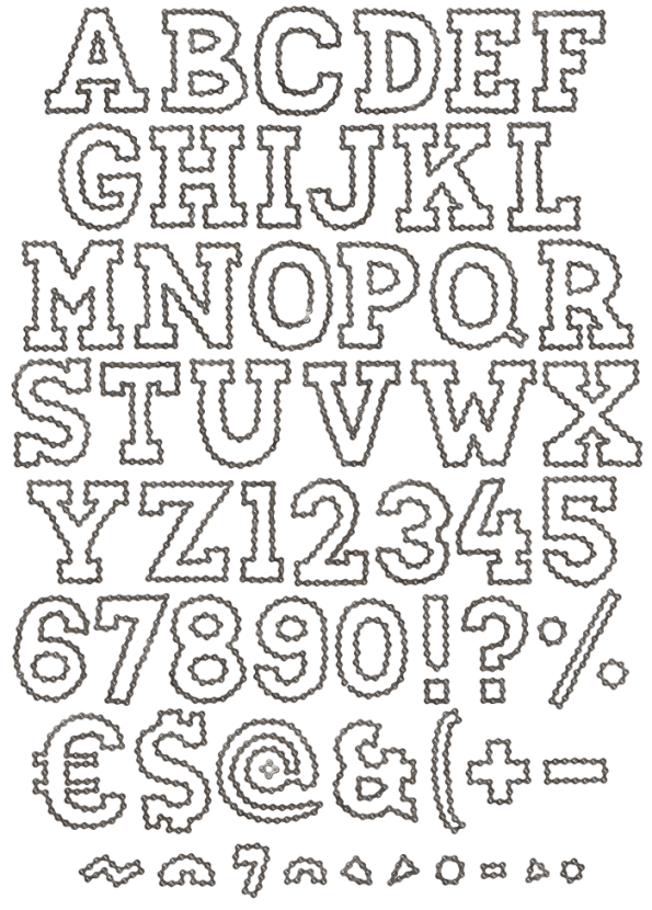 outline chain font