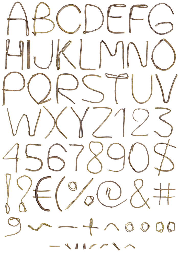 Single Twig nature font