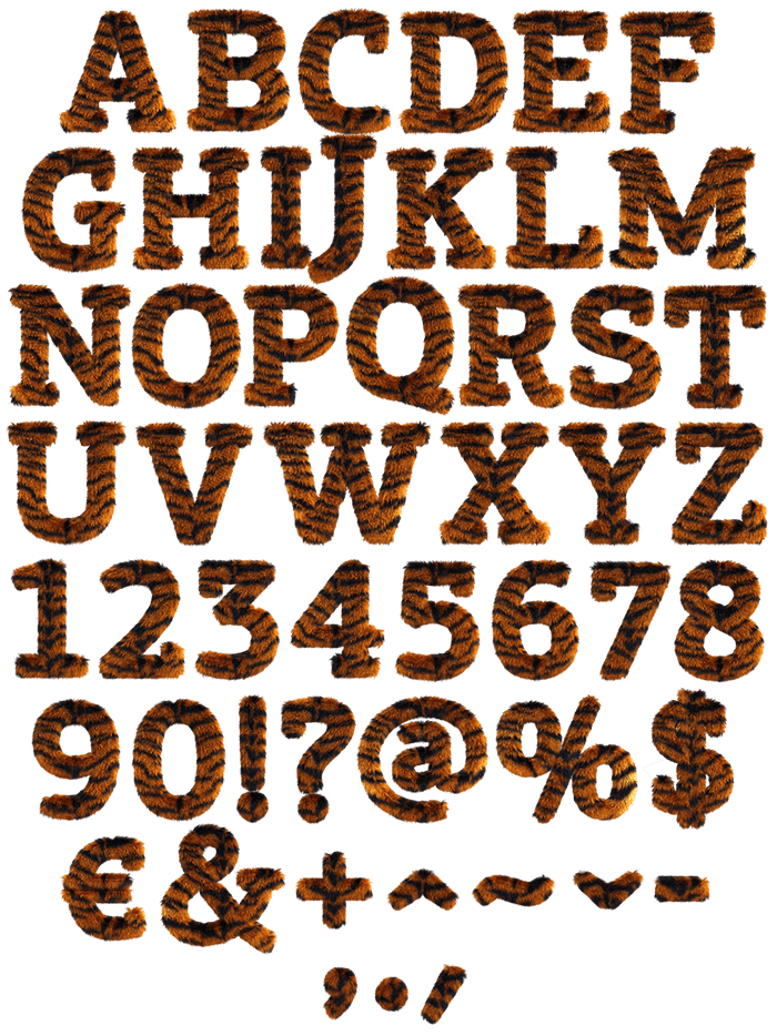 Tiger handmade font