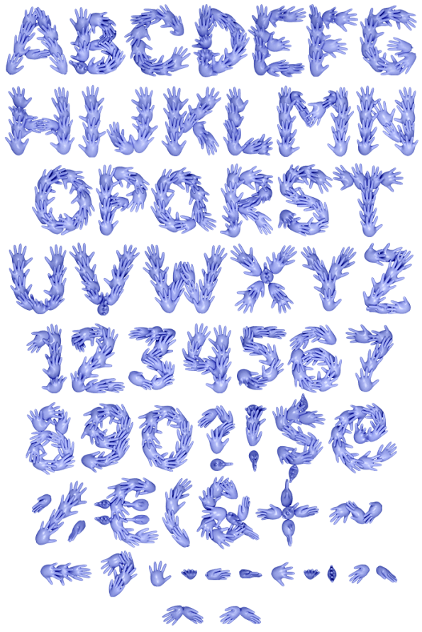 Hands Five Font