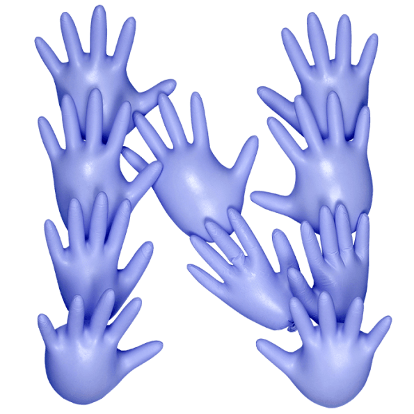 Purple Hands Font
