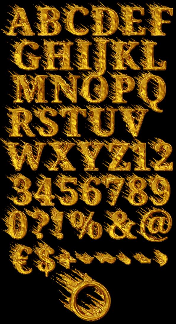 Golden Wind handmade font
