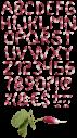 Radish green font